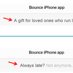 Testing Bounce with different messaging.